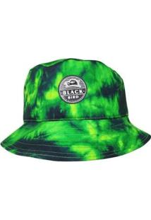 Chepéu Bucket Hats Black Bird Tie Dye - Unissex-Verde+Preto