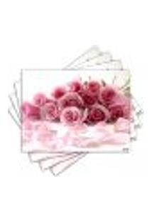 Jogo Americano - Flores Com 4 Peças - 864Jo