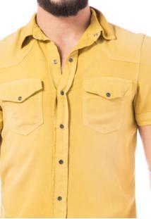 Camisa Manga Curta Denuncia Mostarda