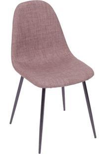 Cadeira Charla- Marrom & Madeira Preta- 85,5X45X40Cmor Design