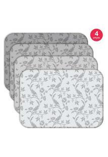 Jogo Americano Love Decor Wevans Premium Flowers Kit Com 4 Pçs