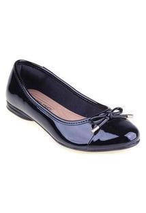 Sapatilha Shop Shop Shoes Biqueira Laço Cor:Pretotamanho:39 Preto