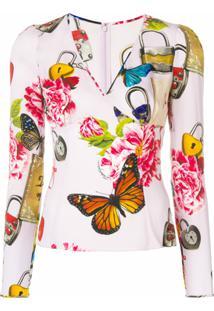 Dolce & Gabbana Blusa Estampada - Rosa
