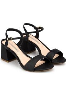 Sandália Sapatinho De Luxo Blocada Napa Dubai Feminina - Feminino-Preto