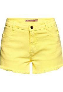 b795cff51 Hering. Shorts Feminino Em Tecido Sarjado De Algodão Com Detalhes Destroyed