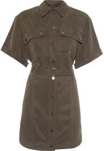 Vestido Curto Liocel Militar - Verde