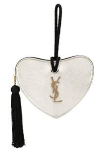 Saint Laurent Carteira Coração - Dourado