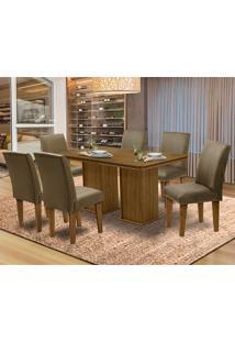 Mesa Para Sala De Jantar Com 6 Cadeiras Amsterdam – Dobuê Movelaria - Mell / Castor