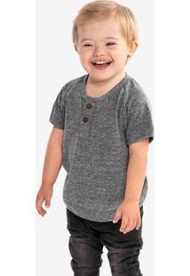 Camiseta Henley Cinza Niños 500066