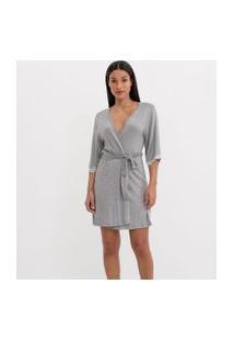 Robe Curto Com Detalhe De Renda | Lov | Cinza | P
