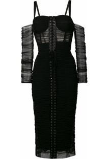 Dolce & Gabbana Vestido Midi - Preto