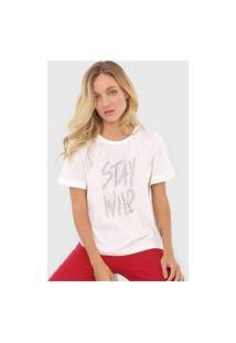 Camiseta Forum Metalizada Off-White