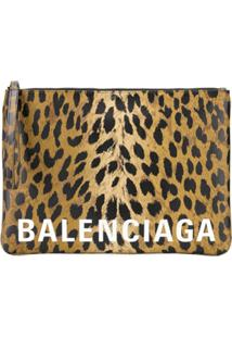 Balenciaga Clutch Cash Handle Grande - Neutro