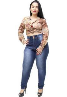 e947cca6659590 Zattini Calça Jeans Plus Size Xtra Charmy Pants Skinny Samela Feminina -  Feminino-Azul