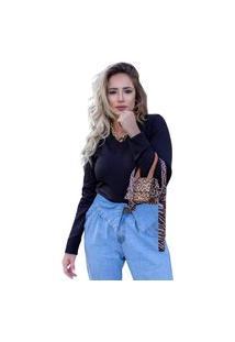 Blusa Tricot Feminina Inverno Amanda Shopping Do Tricô