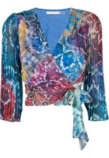 Alice+Olivia Blusa 'Bray' Tie Dye - Azul