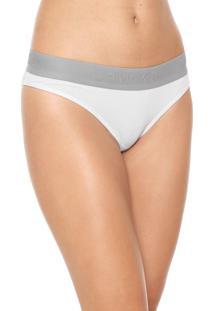 Calcinha Calvin Klein Underwear Tanga Modern Branca