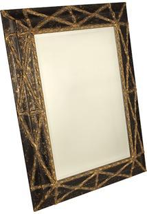 Espelho Com Moldura Trançado Black