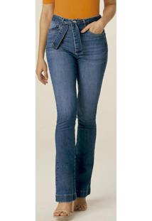 Calça Azul Bootcut Flex Jeans