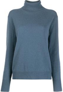 Filippa K Suéter Gola Alta De Cashmere - Azul