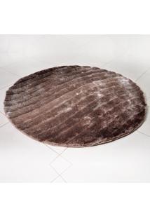 Tapete Silk Shaggy 3D Redondo 1,50M Fendi Waves