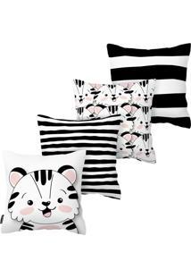 Kit Com 4 Capas Para Almofadas Infantis Urso Armonizzi - Tricae