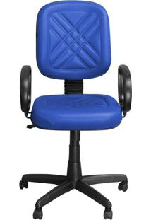 Cadeira Pethiflex Pd-01Gpbp Giratória Couro Azul