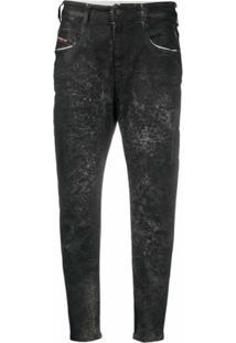 Diesel Calça Jeans Boyfriend Fayza - Preto