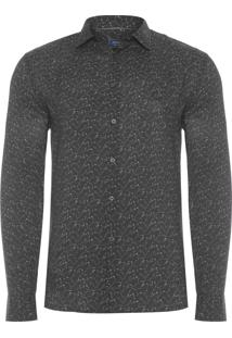 Camisa Masculina Slim - Preto