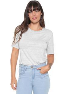 Camiseta Lez A Lez Lurex Silver Cinza