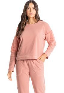 Pijama Longo Com Bolso Em Microsoft Yasmin