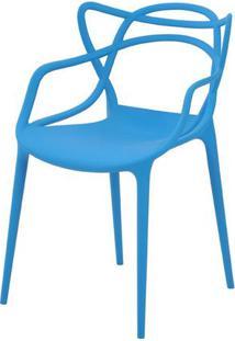 Cadeira Allegra Em Polipropileno Cor Azul - 44933 - Sun House