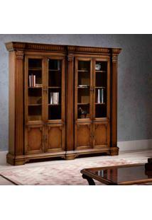 Estante De Livros Fênix Grande Madeira Maciça Design Clássico Avi Móveis