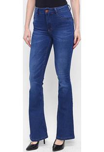 Calça Jeans Flare Biotipo Cintura Média Feminina - Feminino