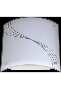 Plafon Sobrepor Carret Linhas Degrade 2 Lâmpadas Bivolt