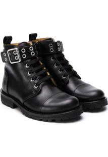 Gallucci Kids Buckled Ankle Boots - Preto