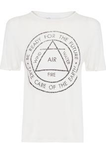 Camiseta Feminina Silk Rui - Offwhite