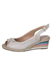 Sandália Feminina Anabela Doctor Shoes 660 Off White