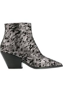Casadei Ankle Boot Metalizada - Metálico