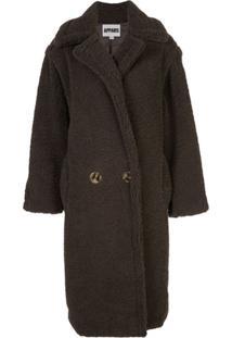 Apparis Faux Fur Coat - Cinza