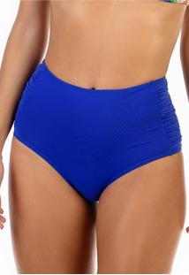Calcinha Ilhas Rio Hot Pant Franzida Na Lateral Azul - Tricae