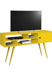 Rack Para Tv Kenzo Amarelo Edn Móveis