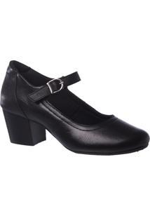 Scarpin Couro Doctor Shoes 287 Feminino - Feminino-Preto