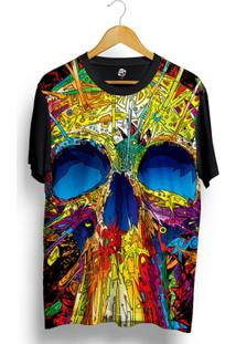 Camiseta Bsc Skull Mosaic Full Print - Masculino