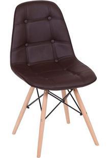 Cadeira Eames Botonê- Café & Madeira Clara- 83X44X39Or Design