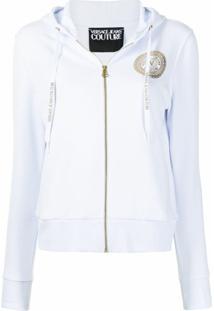 Versace Jeans Couture Jaqueta Esportiva Com Estampa De Logo - Branco