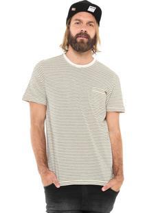Camiseta Mcd Rustic Stripes Bege/Preta