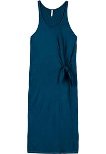 Vestido Midi Em Malha Com Drape Isis Valverde