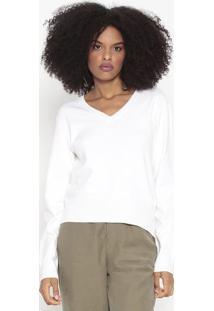 Suéter Em Tricô - Branca - Wool Linewool Line