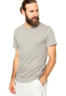 Camiseta Manga Curta Calvin Klein Jeans Lisa Cinza